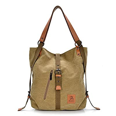 Tezoo JOSEKO Fashion Shoulder Bag Rucksack, Canvas Multifunctional Casual Handbag Travel Backpack For Women Girls Ladies, Large Capacity