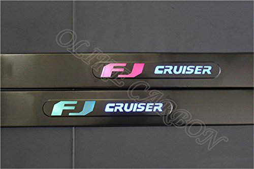 Cruiser Aftermarket Accessories Fj (OLIKE For 2007-2015 Toyota FJ Cruiser Led Scuff Plate Door Sill Entry Guards)