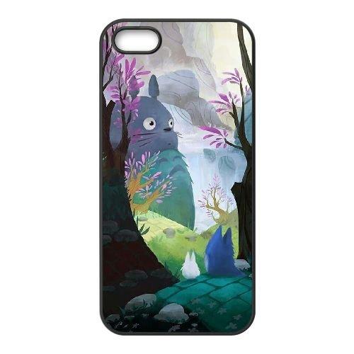 My Neighbor Totoro 009 coque iPhone 4 4S Housse téléphone Noir de couverture de cas coque EOKXLKNBC22806
