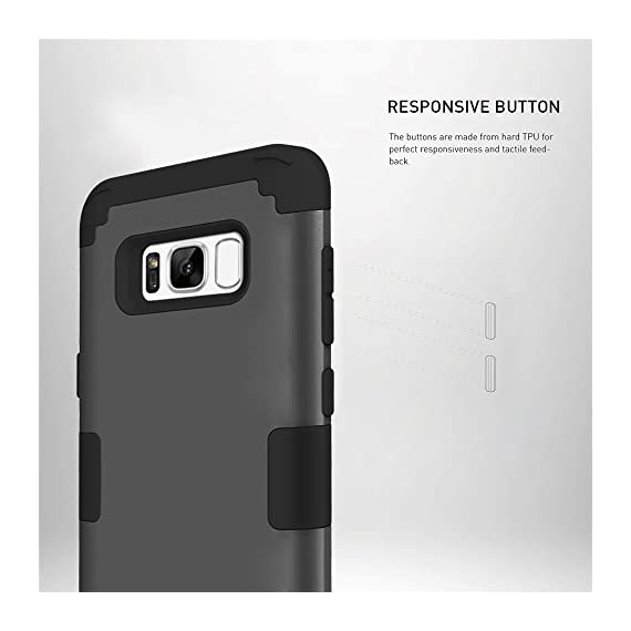 Samsung Galaxy S8 Case, VPR 3 in 1 Hybrid Cover Hard PC Soft Silicone Interior Rubber Scratch Heavy Duty High Impact Shock Absorbing Protective Defender Case for Galaxy S8 2017 6 Only Fit For Samsung Galaxy S8 2017. Reinforced Corner Increase Shock Absorbing when your Galaxy S8 2017 is Dropping on the ground. Rubberized Polycarbonate Armor outer hard case plus Silicone Inner layer cushions and shields your phone from damage. Specifically design Protects the core openings of the phone, including volume controls, power button, and headphone jack.