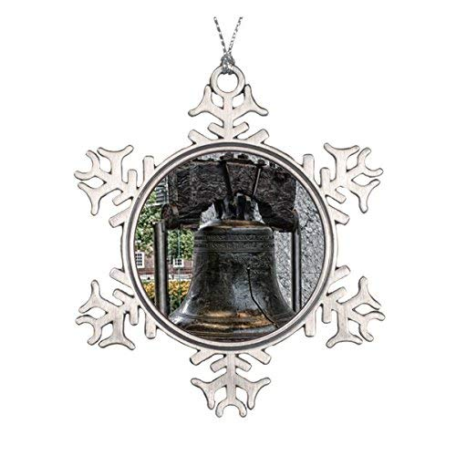 LilithCroft99 Liberty Bell Pewter Snowflake Christmas Ornaments,Christmas Tree Decorations Ornaments,Keepsake,Novelty
