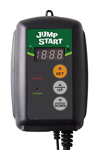 Hydrofarm MTPRTC Controller Thermostat for Heat Mats Germination, Reptiles and Brewing Jump Start Digital, 9-by-19-1/2-Inch, Black Plastic