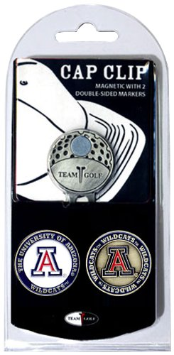 (Team Golf NCAA Arizona Wildcats Golf Cap Clip with 2 Removable Double-Sided Enamel Magnetic Ball Markers, Attaches Easily to Hats)