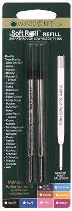 Softroll Fits Parker Extra-Fine Black Ballpoint Refills [2 per pack] from MonteVerde®