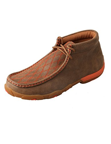 Patent Moc (Twisted X Women's Orange Stitched Lace-Up Driving Mocs Brown 7.5 M US)
