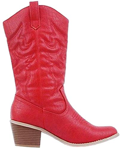 Karyn's Collection BDW-14W Western Cowboy Cowgirl Mid Calf