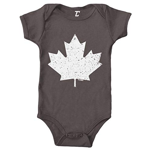 Canadian Maple Leaf - Canada Pride Bodysuit (Charcoal, Newborn)