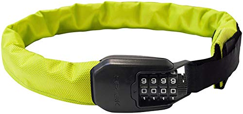 Hiplok Spin Lok Chain Combo (Neon Yellow) (Best Wearable Bike Lock)