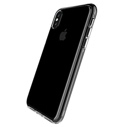 Funda iPhone X, SsHhUu 2 in 1 Doble capa Transparente Suave Gel Ultra Fina TPU + PC a prueba de choques Duro Protección Funda pour Apple iPhone X / iPhone 10 / A1901 / A1865 (5.8)