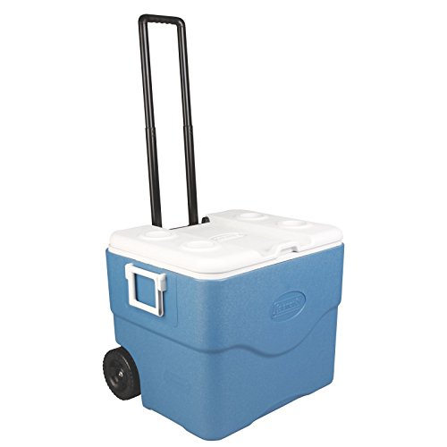 Coleman 75-Quart Xtreme 5-Day Heavy-Duty Cooler with Wheels (Coleman Xtreme 5 75 Quart Wheeled Cooler Blue)