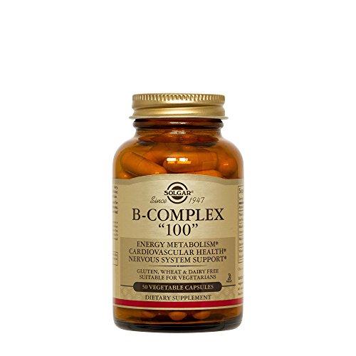 Solgar B-Complex 100 Vegetable Capsules, 50 Count