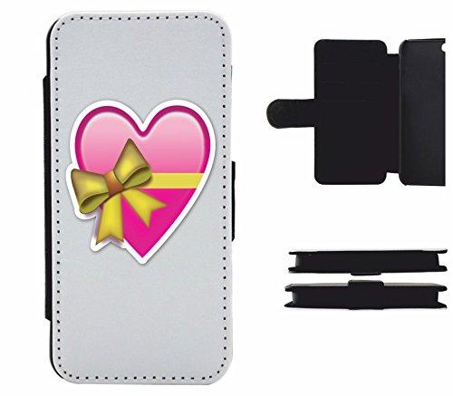 """Leder Flip Case Apple IPhone 5/ 5S/ SE """"Herz in Rosa/Pink als Geschenk verpackt mit Schleife"""", der wohl schönste Smartphone Schutz aller Zeiten."""