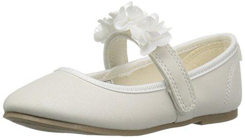 carter's Girls' Cake2 Ballet Flat, Ivory, 5 M US Toddler (Girls In Flats)
