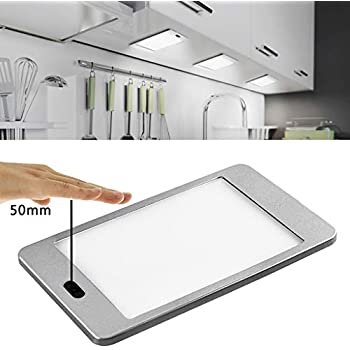 LED Under Cabinet Lighting Dimmable IR Sensor Hand Wave Activated Control, Ultra Thin Dimming Under Counter Wardrobe Lights for Kitchen, Shelf Cupboard, Closet Light,Nature White 4000K, 3 Panels