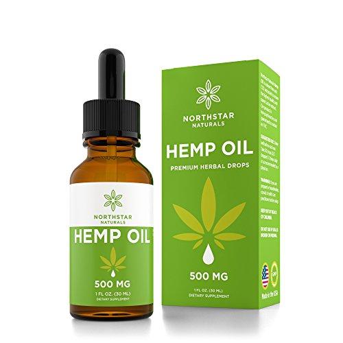 Hemp Oil for Pain & Anxiety Relief - 500mg Full Spectrum Organic Hemp Drops - Natural Hemp Oils for Better Sleep, Mood & Stress - Pure Hemp Extract - Zero THC CBD Cannabidiol - Mint Flavor