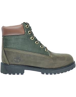 6Inch Premium Big Kids Waterproof Boots Brown/Green tb0a14z2