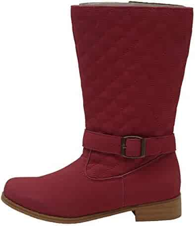 675ad0e9a L'Amour Little Girls Fuchsia Quilted Buckle Fashion Tall Boots 7-10 Toddler