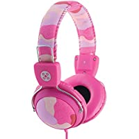 Moki ACCHPCAMP Camo Headphones with In-Line Mic and Control, Pink