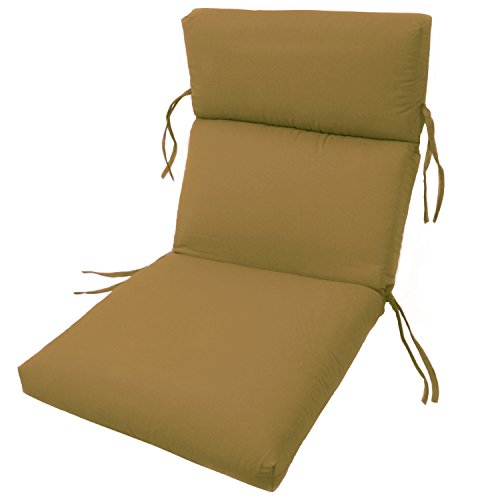 Brass Outdoor Chair - SUNBRELLA OUTDOOR CHANNELED CHAIR CUSHIONS 22W x 44L x 3H Hinge at 24