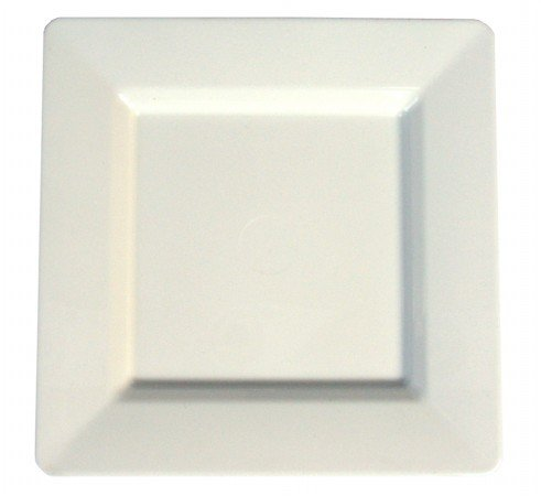 Royal Plasticware, PW2989, 9.75'' Square Plate, White by Royal Plasticware