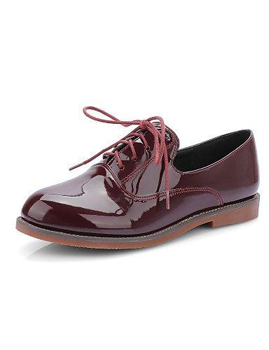 GGX/ Damenschuhe-High Heels-Kleid / Lässig-Kunstleder-Niedriger Absatz-Absätze / Rundeschuh-Schwarz / Rot / Beige red-us6.5-7 / eu37 / uk4.5-5 / cn37