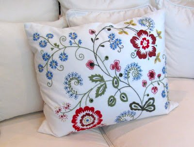 Ikea Alvine Flora Cushion Pillow Cover Duck Feather Insert