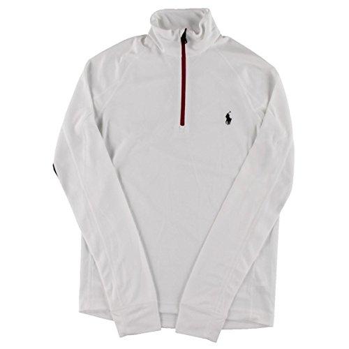 Polo Ralph Lauren Mens Perforated Monogram 1/4 Zip Jacket White (Perforated Monogram)