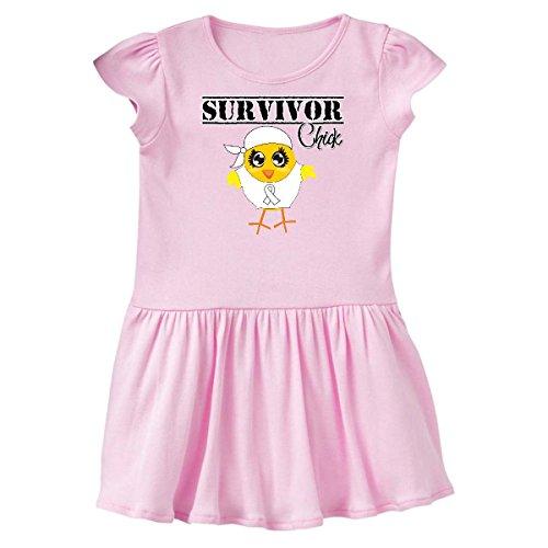 Survivor Chick - inktastic Lung Cancer Survivor Chick Infant Dress 12 Months Pink - HDD 1deec