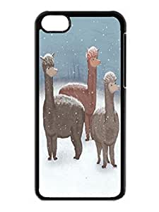 Popular Design Winter Show Off Cute Hard Plastic Iphone 5c 5th Black Case Cover