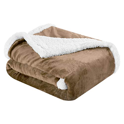 Manta Sofa Ikea.Langria Reversible Fleece Soft Warm Sofa Bed Throw Blanket Flannel Sherpa Breathable Lightweight Eco Friendly Easy Care 60 X 80 In 150 X 200