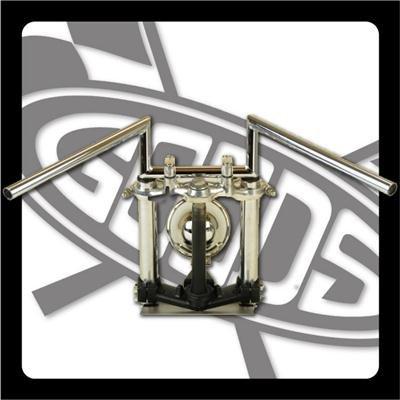 GOODS : TW200/225※ディスクブレーキ車 ロボットバーローハンドル(クローム)  ロングワイヤー、ブレーキホースセット   B00GQRWJ7S