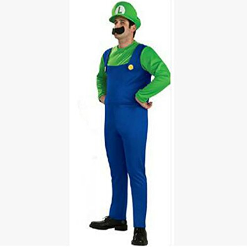 Labu Store Halloween Costumes Men child women Brothers Plumber Costume Jumpsuit Fancy Cosplay Clothing for Adult Men kids by Labu Store
