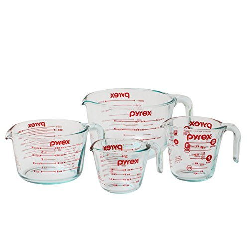 Pyrex Measuring Cup 4-piece Set, Clear, 15 x 12 x 5.375 ()
