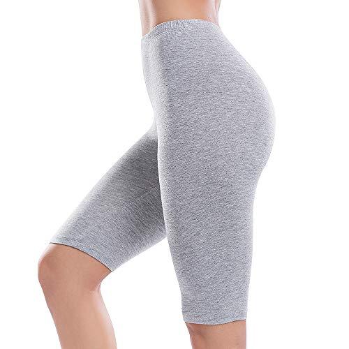 JTANIB Slip Shorts for Women Mid-Thigh Leggings Lace Plus Size Undershorts Gray -