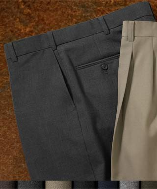 (Austin Reed REFLEX Flat-Front Dress Pants)