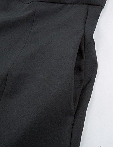 OMUUTR Plisse Ouverte Taille Retro Couleur Multi Jupe Option Jupe Fourche Nouvelle Noir Haute en Buste Femmes Latrale Sangle et Taille S Automne t de PCnXqrwP