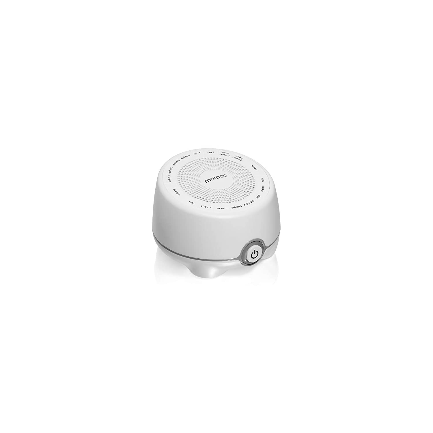Marpac Whish White Noise Sound Machine | 16 Natural & Soothing Sounds with Volume Control | White Noise, Nature Sounds | Travel, Office Privacy, Sleep Therapy, Concentration | For Adults & Baby