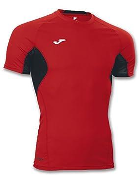 Joma Camiseta Skin Red-Black S/S Running Camiseta térmica: Amazon.es: Deportes y aire libre