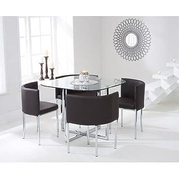Talbingo - Tavolo da cucina salvaspazio con 4 sedie tappezzate ...
