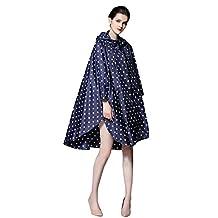 OVOV Women's Lightweigt Rain Jacket Waterproof Dot Style Rainwear Outdoor Raincoat