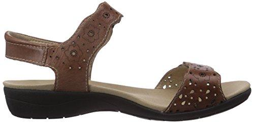 Tahiti 03 - Sandalias de vestir de cuero para mujer, marrón (bark 358), talla 41 EU Romika