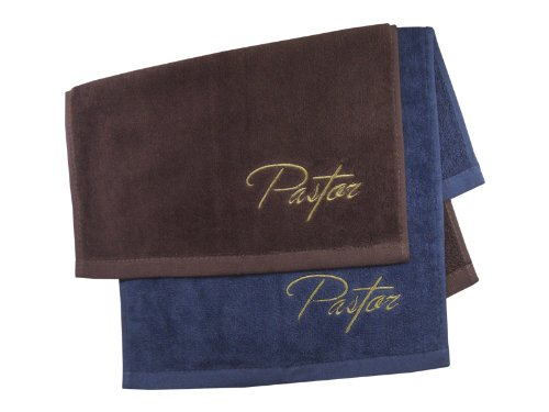 Pastor Towel Pastor Navy with gold by Swanson Christian Supply
