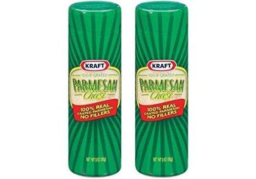 Kraft 100% Grated Parmesan Cheese (Pack of 2) 3 oz Bottles