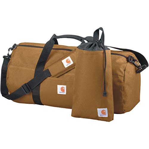 Weekender Gear Bag - Carhartt Trade Series 2-in-1 Packable Duffel with Utility Pouch, Carhartt Brown