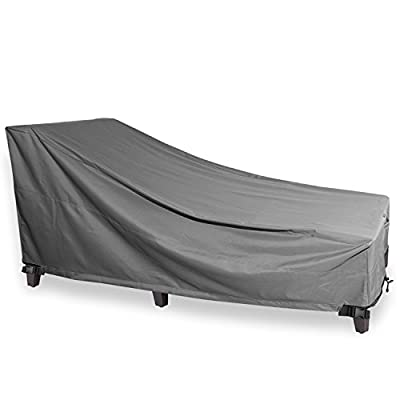 Chaise Lounge Cover - KHOMO GEAR - Titan Series - Heavy Duty Patio Furniture Cover - Grey