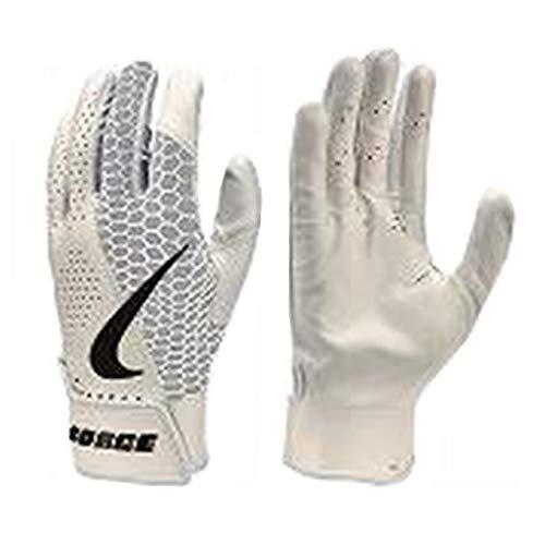 Nike Adult Force Edge Batting Gloves (White, Large)