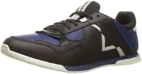 Diesel Men's Remmi-v S-Furyy Ii Fashion Sneaker, Black/Medieval Blue, 9.5 M US