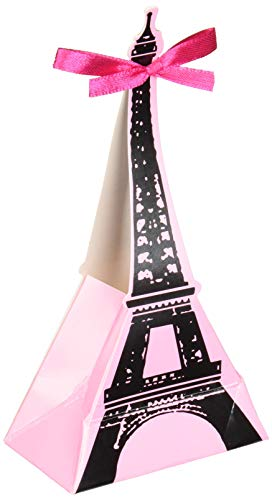 Amscan 340151 A Day in Paris Favor Boxes, One Size, Multicolor ()