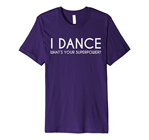 [Mens I Dance What's Your Superpower Hip Hop Dance Party Tee Shirt Small Purple] (Latin Dance Costumes Men)