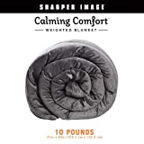 Calming Comfort Weighted Blanket by Sharper Image- A Heavy Blanket| 20 lb. 50' x 75', Grey